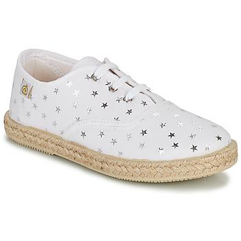 Schoenen Meisjes Lage sneakers Citrouille et Compagnie OUAKA Zilver