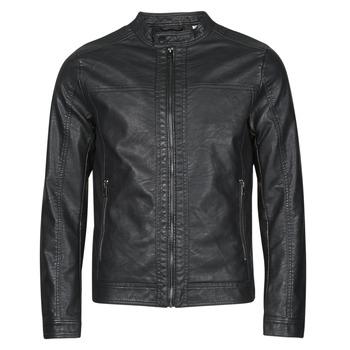 Textiel Heren Leren jas / kunstleren jas Jack & Jones JJEWARNER Zwart