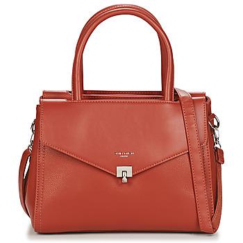 Tassen Dames Handtassen kort hengsel David Jones 6506-2 Cognac