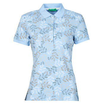 Textiel Dames Polo's korte mouwen Benetton CHOLU Blauw