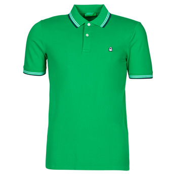 Textiel Heren Polo's korte mouwen Benetton 3WG9J3181-108 Groen