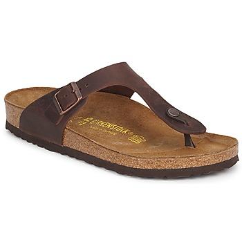 Schoenen Dames Slippers Birkenstock GIZEH PREMIUM Brown