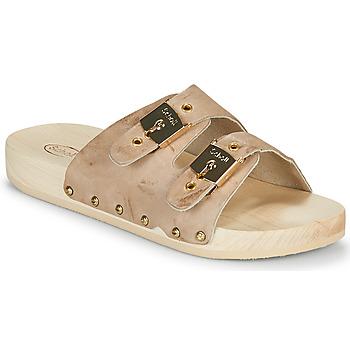 Schoenen Dames Leren slippers Scholl PESCURA 2 STRAPS Brown