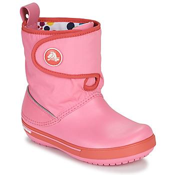 Schoenen Kinderen Snowboots Crocs CROCBAND ll.5 GUST BOOT KIDS PLEM PPY Roze