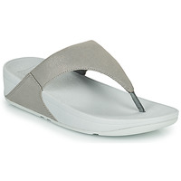 Schoenen Dames Slippers FitFlop LULU SHIMMER TOE POST Zilver
