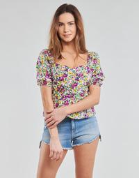 Textiel Dames Tops / Blousjes Yurban OPEET Wit / Multikleuren