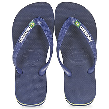 Schoenen Slippers Havaianas BRASIL LOGO Marine