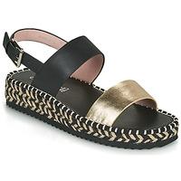 Schoenen Dames Sandalen / Open schoenen Café Noir GRISLI Zwart / Goud