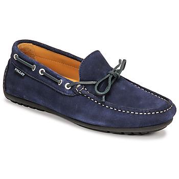 Schoenen Heren Mocassins Pellet Nere Blauw