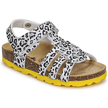 Schoenen Meisjes Sandalen / Open schoenen Citrouille et Compagnie JANISOL Leopard / Wit / Zwart