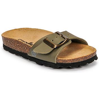 Schoenen Jongens Leren slippers Citrouille et Compagnie OKIKOU Kaki