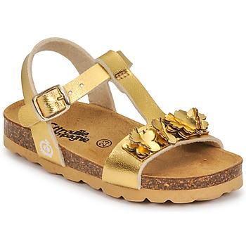 Schoenen Meisjes Sandalen / Open schoenen Citrouille et Compagnie KAPIBA Goud