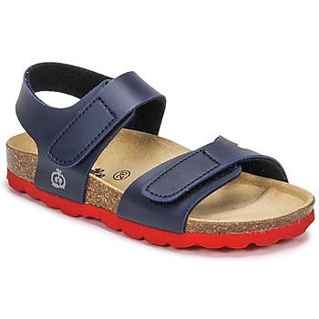 Schoenen Jongens Sandalen / Open schoenen Citrouille et Compagnie BELLI JOE Marine / Rood