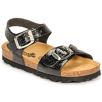 Schoenen Meisjes Sandalen / Open schoenen Citrouille et Compagnie RELUNE Zwart / Serpent