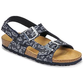 Schoenen Jongens Sandalen / Open schoenen Citrouille et Compagnie KELATU Marine / Imprimé