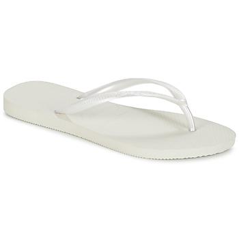 Schoenen Dames Slippers Havaianas SLIM Wit
