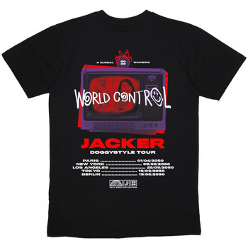 Textiel Heren T-shirts korte mouwen Jacker World tour Zwart