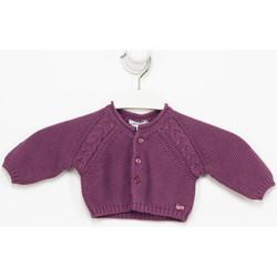 Textiel Meisjes Vesten / Cardigans Tutto Piccolo Veste  M / Long Violet