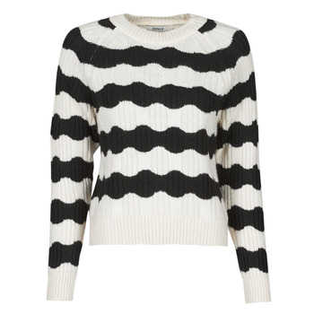 Textiel Dames Truien Only ONLKAITLIN Zwart / Wit