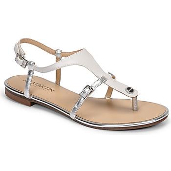 Schoenen Dames Sandalen / Open schoenen JB Martin GAELIA Wit / Zilver