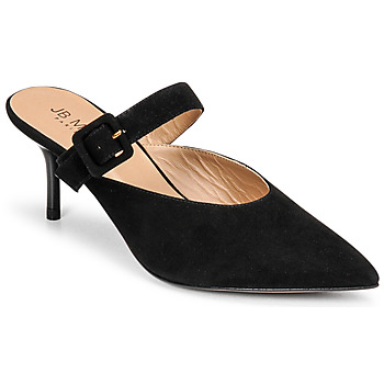 Schoenen Dames Leren slippers JB Martin TORIA Zwart