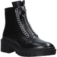 Schoenen Dames Laarzen Apepazza F0COMBAT10/LEA Zwart