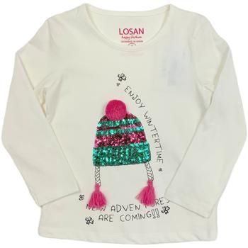 Textiel Kinderen T-shirts met lange mouwen Losan 026-1201AL Wit