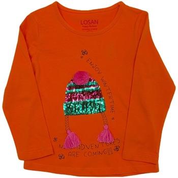 Textiel Kinderen T-shirts met lange mouwen Losan 026-1201AL Oranje