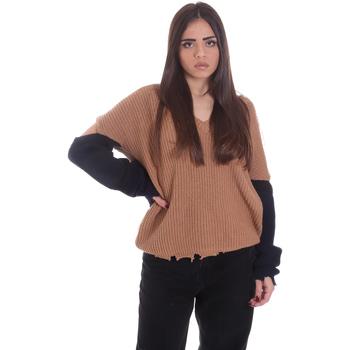 Textiel Dames Truien P-Jean 1X109Q Y4ZX Beige