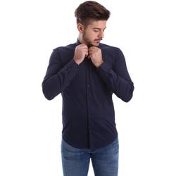 Textiel Heren Overhemden lange mouwen Automatic CAU22400 Blauw