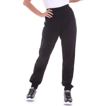 Textiel Dames Broeken / Pantalons Key Up 5FI47 0001 Zwart