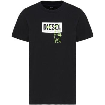 Textiel Dames T-shirts korte mouwen Diesel A00255 0HERA Zwart