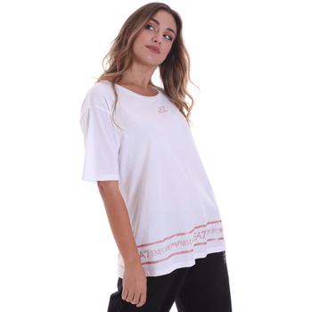 Textiel Dames T-shirts korte mouwen Ea7 Emporio Armani 6HTT32 TJ52Z Wit