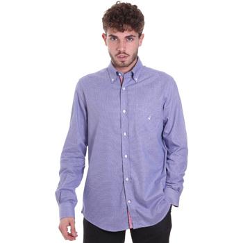 Textiel Heren Overhemden lange mouwen Navigare NV91133 BD Blauw