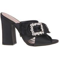 Schoenen Dames Leren slippers Fornarina PE18GI2904 Zwart