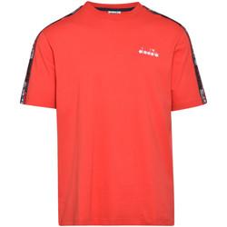 Textiel Heren T-shirts korte mouwen Diadora 502176429 Rood