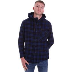 Textiel Heren Overhemden lange mouwen Antony Morato MMSL00636 FA410149 Blauw