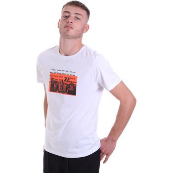 Textiel Heren T-shirts korte mouwen Antony Morato MMKS01880 FA100144 Wit