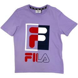 Textiel Kinderen T-shirts korte mouwen Fila 688149 Roze