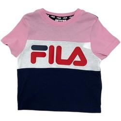 Textiel Kinderen T-shirts korte mouwen Fila 688023 Roze