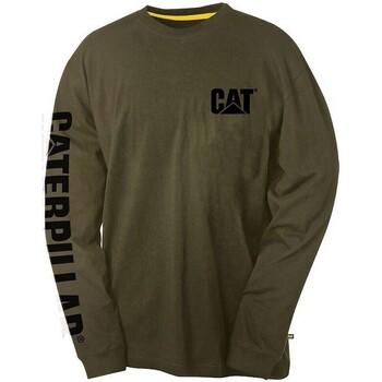 Textiel Heren T-shirts met lange mouwen Caterpillar Trademark Groen