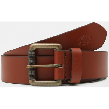 Accessoires Heren Riemen Dickies South shore leather belt Brown