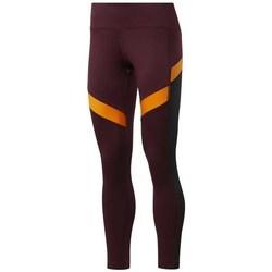 Textiel Dames Broeken / Pantalons Reebok Sport Wor Mesh Tight Orange, Bordeaux