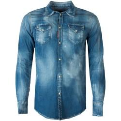Textiel Heren Overhemden lange mouwen Dsquared  Blauw