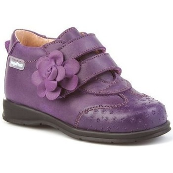 Schoenen Meisjes Enkellaarzen Cbp - Conbuenpie Botines Safari de piel by CBP Violet