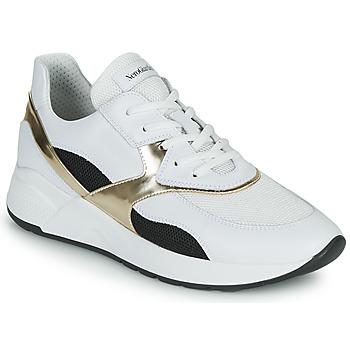 Schoenen Dames Lage sneakers NeroGiardini FILOMENE Wit / Zwart / Goud