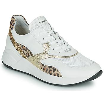Schoenen Dames Lage sneakers NeroGiardini FIDEL Wit / Leopard