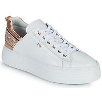 Schoenen Dames Lage sneakers NeroGiardini GATTO Wit / Roze / Gold