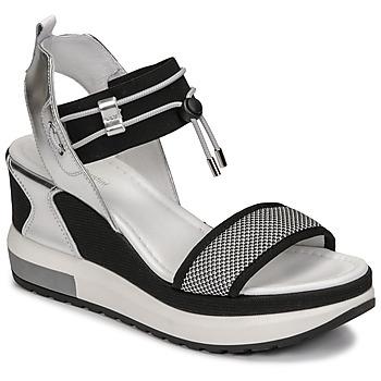 Schoenen Dames Sandalen / Open schoenen NeroGiardini CAMINO Zwart / Zilver