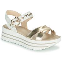 Schoenen Dames Sandalen / Open schoenen NeroGiardini TIMMA Wit / Goud